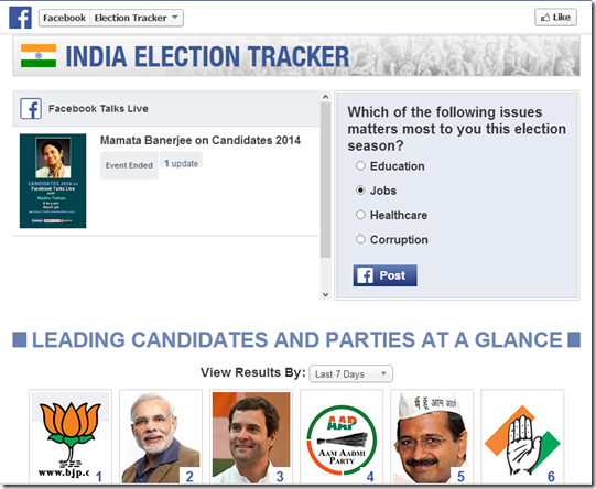 facebook election tracker