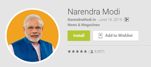 narendramodi app reviews 19 june 2015